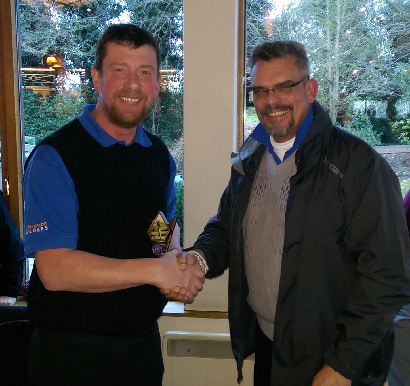 society photos 2015 st stephen s golf society in canterbury kent runner up alex mcbeth 21 40pts trophy presented by nigel stevenson club sec